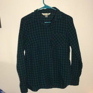 Old Navy Green/Navy flannel, size M